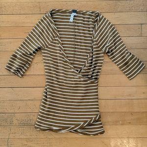 3/4 sleeve free people striped top